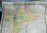 Карта Новгородской области 1970-1980 Великий Новгород